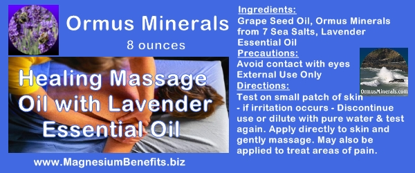 Ormus Minerals Healing Massage Oil with Lavender Oil