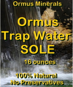 Ormus Minerals -Trap Water Sole