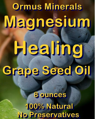 Ormus Minerals -Magnesium Healing Grape Seed Oil